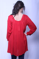 Red Embroidery Tunic