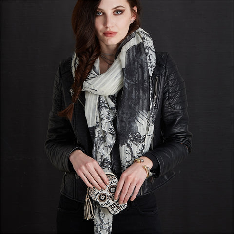 Bad to the Bone Skull Scarf