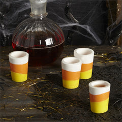 Candy Corn Set of 4 Candy Shot Glasses