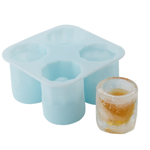 Ice Shots Mold in Gift Box Makes 4 Shot Glasses
