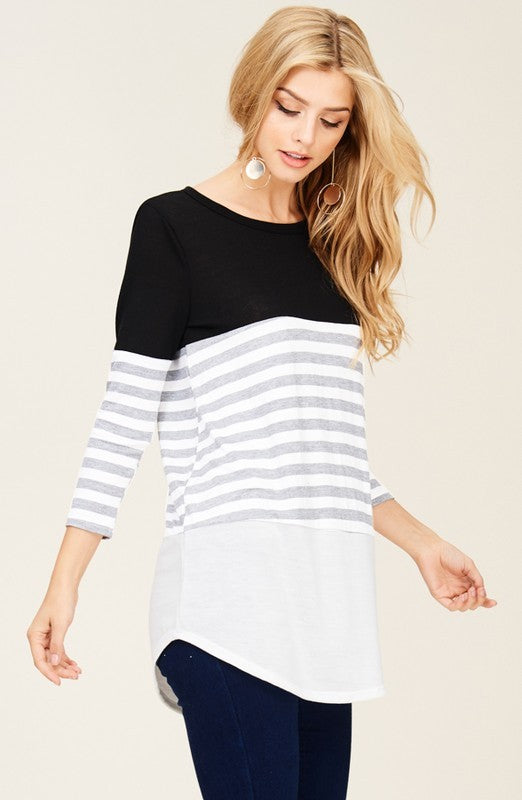 Color Block & Striped Tunic