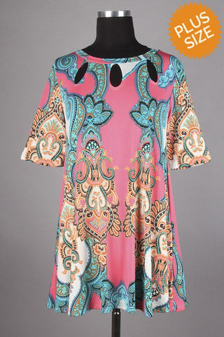 Plus  Size Multi Color Tunic
