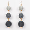 Ball Earrings Grey