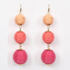 Ball Earrings Fuchsia