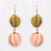 Ball Earrings Light Peach