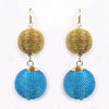 Ball Earrings Blue