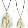 Linen Tassel Necklace