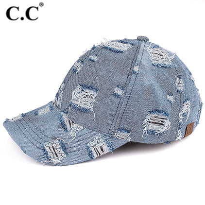 Vintage Denim Baseball Cap -Adjustable