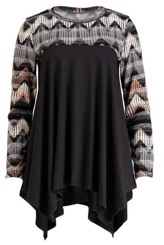 Printed Sleeve Tunic
