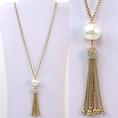Pearl, Crystal & Rhinestone Necklace