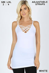 Caged Camis' (Criss Cross)  in a variety of colors