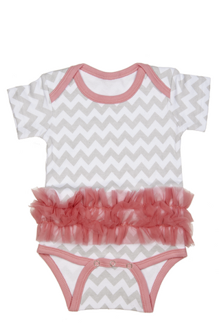 Chevron Diaper Shirt TuTu