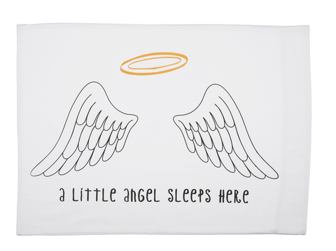 A Little Angel Sleeps Here Pillow Case