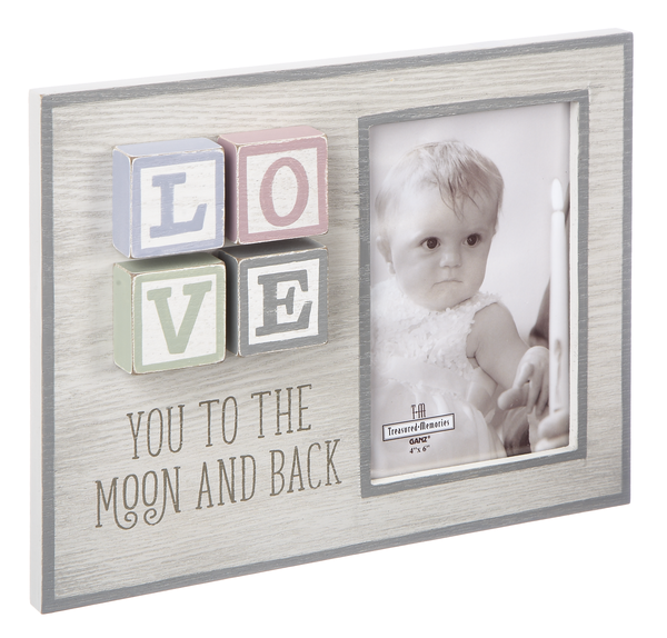 Baby Blocks - Love You to the Moon Picture Frame