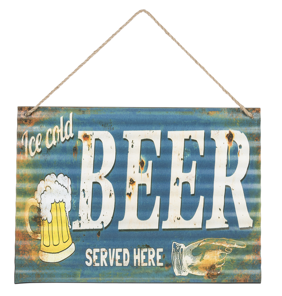 Wall Sign - Ice Cold Beer Served Here