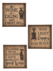 Wine Box Wall Plaques (Sold Separately)