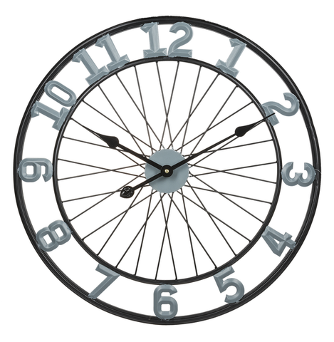 Wall Clock - Bicycle Wheel