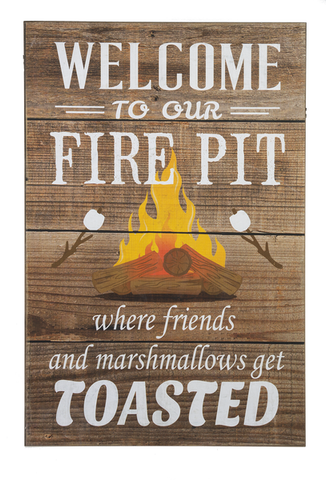 Wall Plaque - Welcome to Our Fire Pit