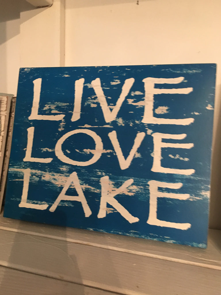 Box Sign - Live Love Lake