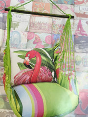 Fresh Lime / Flamingo Pillow