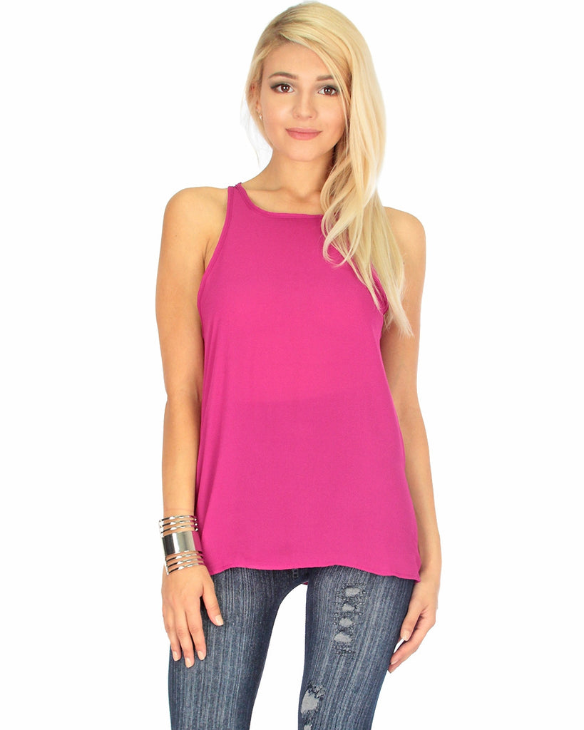 Sheer Loose Fitting Tank Top (available in 4 colors)