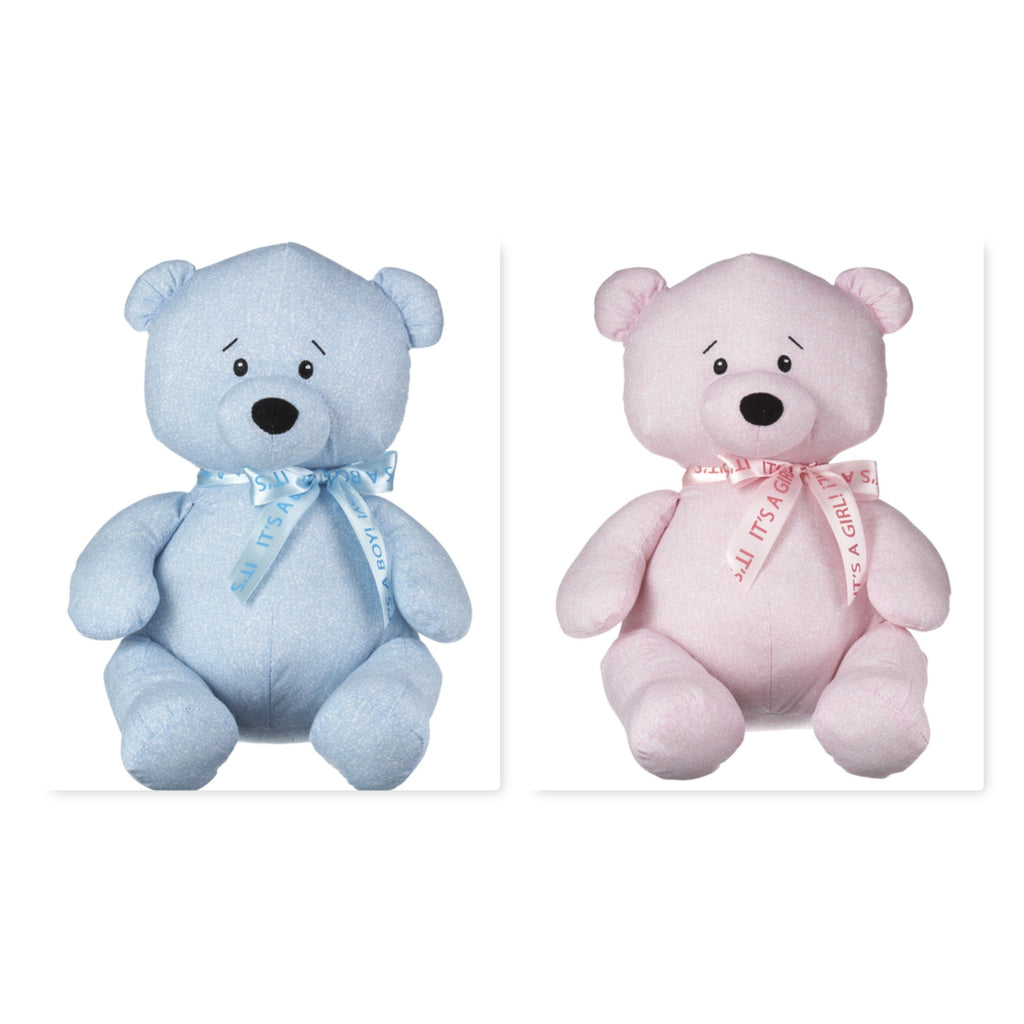 Write-On Baby Shower Bear Blue or Pink