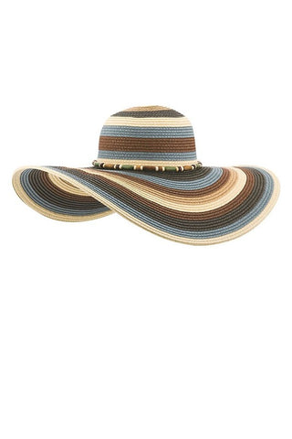 Colorful Womens' Braided Sun Hat (Brown)