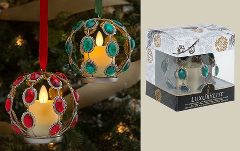 Vintage Jewel LED Ornaments