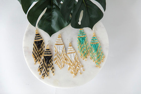Aztec Detailed Pyramid Earrings