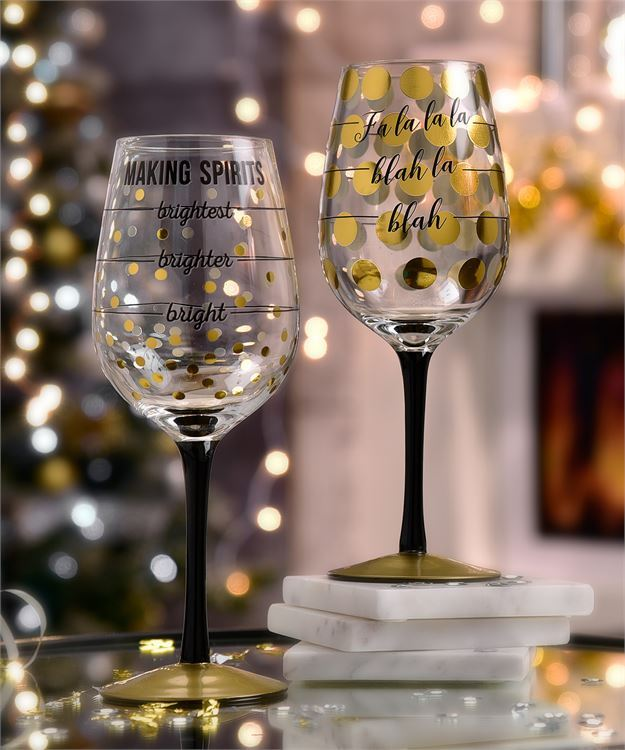 Holiday Wine Glasses (sold separately)