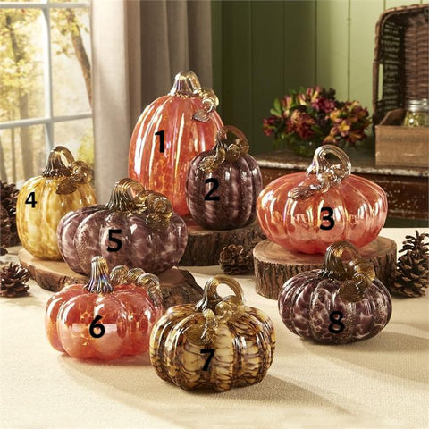The Pick of The Patch Decorative Glass Pumpkins (Sold Separately)