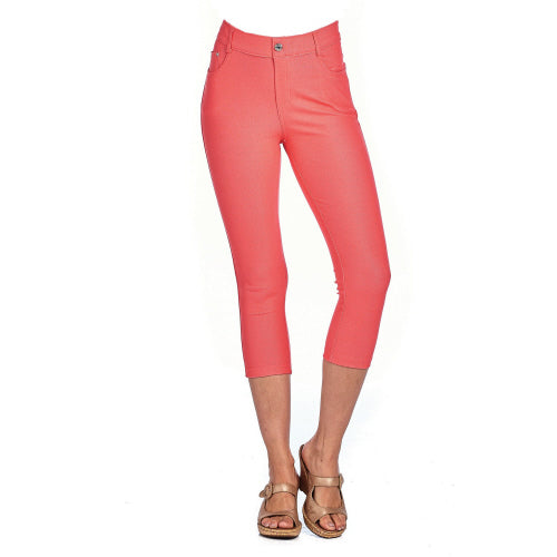 Coral Capri Jeggings