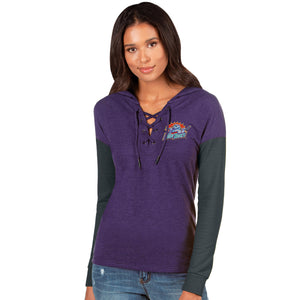 Women's LS Amaze Lace-Up Hooded Shirt