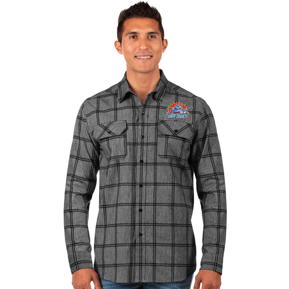 Adult LS Live Button Up Flannel Shirt