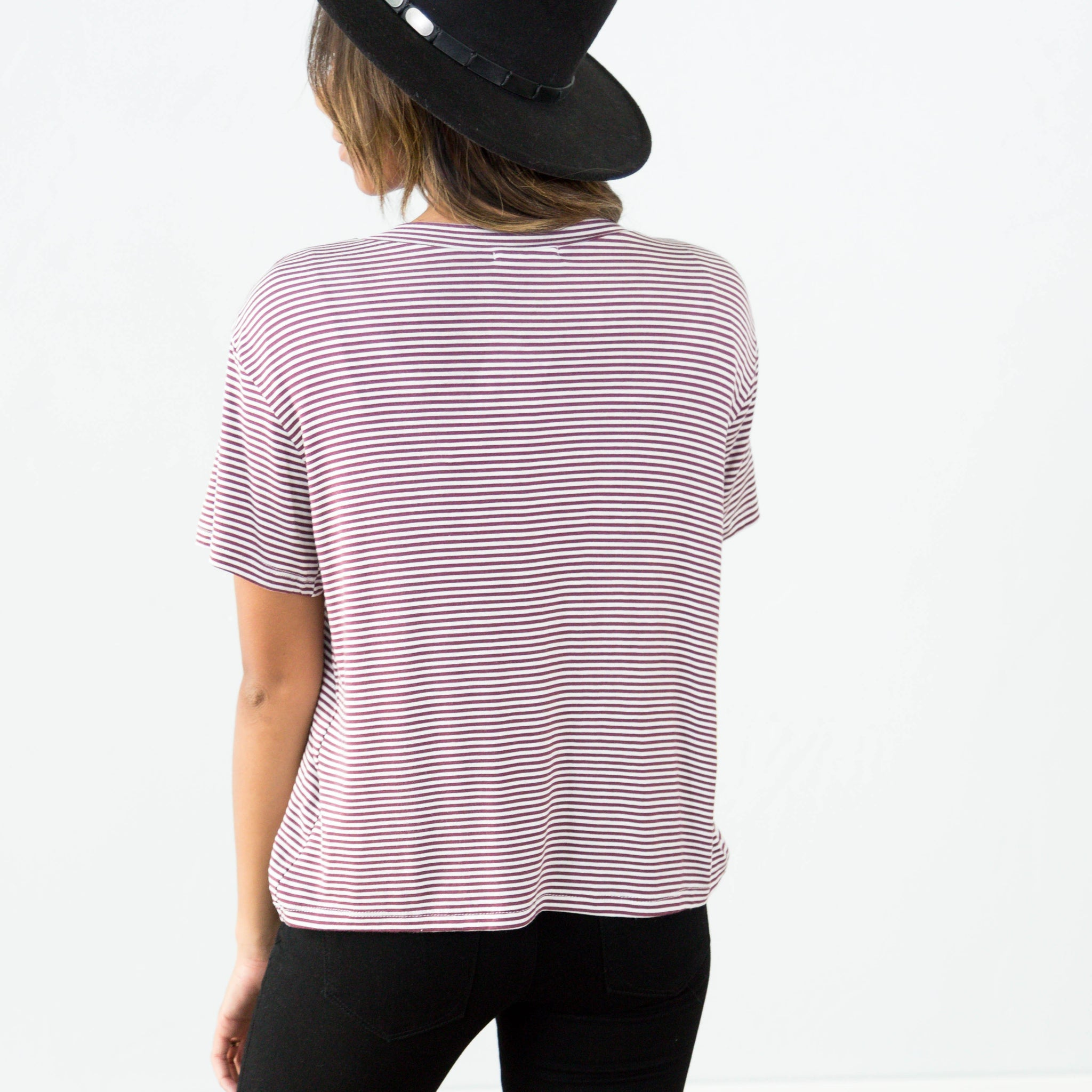 Jainy Stripe Top in Marsala