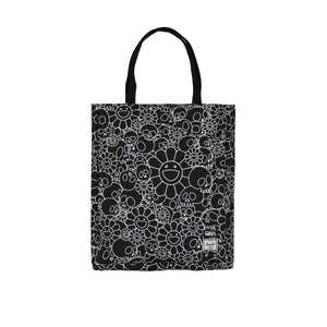 SKULLS & FLOWERS TOTE BAG (BLACK)