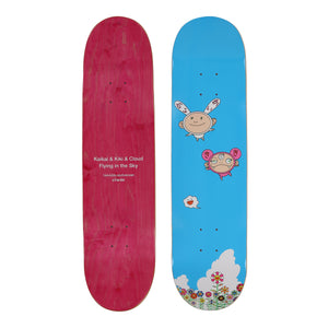 KAIKAI & KIKI & CLOUD FLYING IN THE SKY SKATE DECK (BLUE)