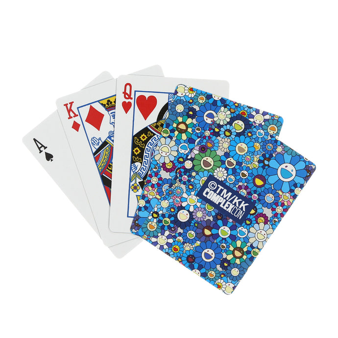 FLOWER PLAYING CARDS (BLUE)