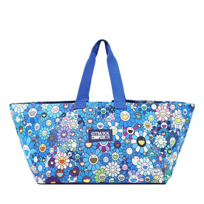 Flower Tote Bag (Blue)