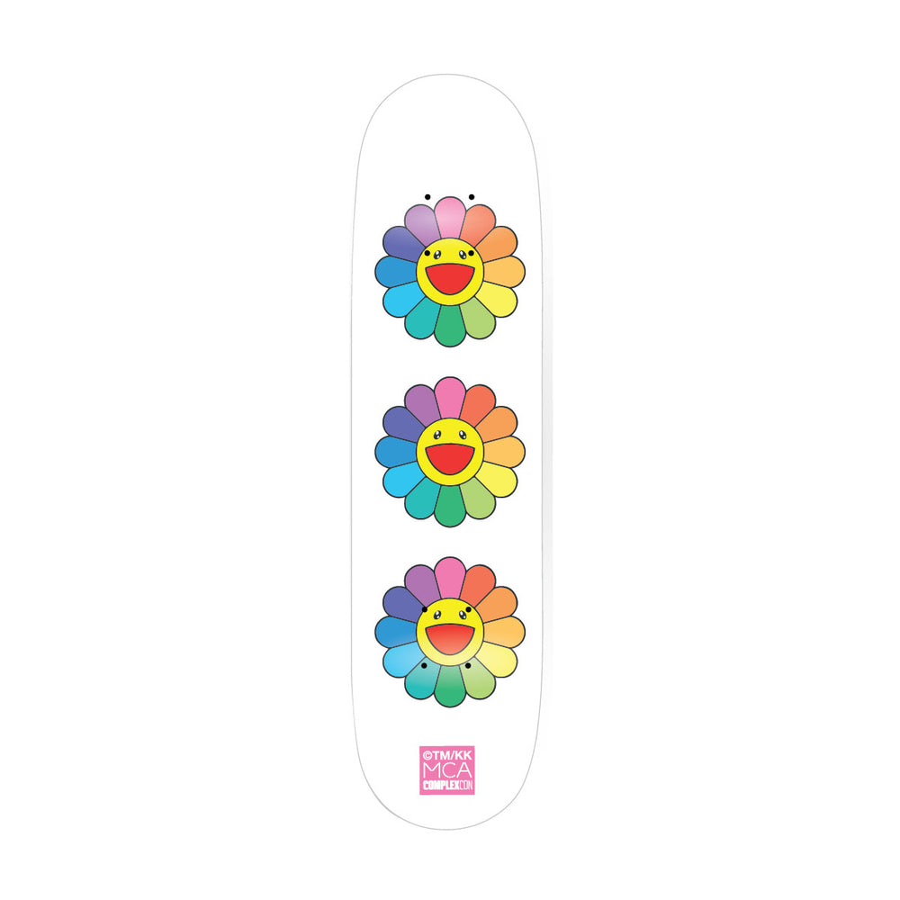 Flower 8.0 Skate Deck // White