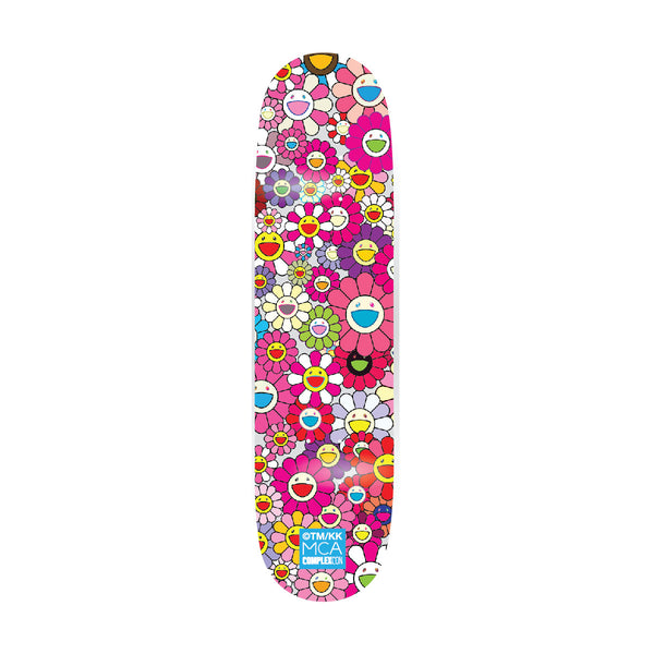Multi Flower 8.0 Skate Deck // Pink