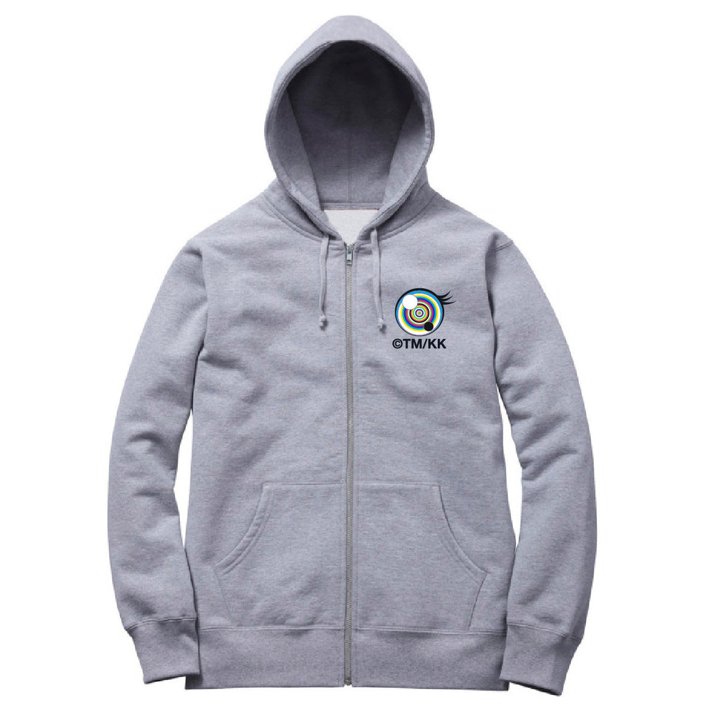 Eyes Zip Hoodie // Heather Grey