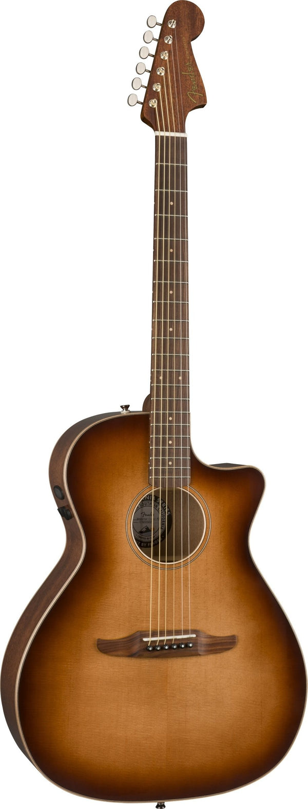 Fender Newporter Classic Acoustic Electric - Aged Cherry Burst