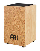 String Cajon with Pickup, Makah Burl Front Plate