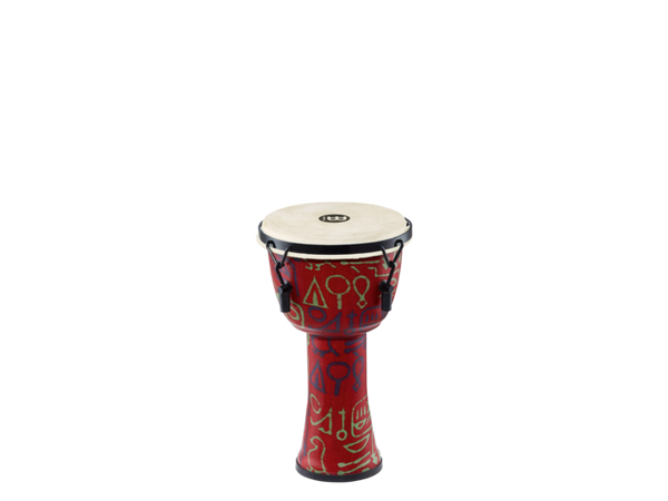 "Meinl Mechanically Tuned 8"" Travel Series Series Pharaoh Script African Djembe with Goat Skin Head"
