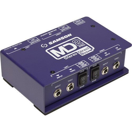 Samson S-MAX MD2 Pro 2-Channel Passive Direct Box