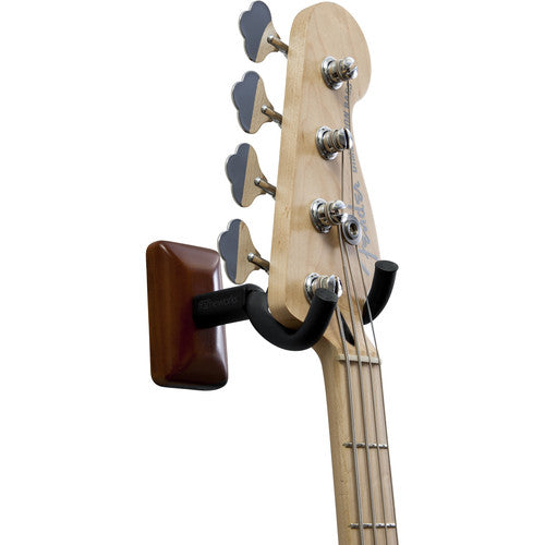 Gator Cases Wall-Mounted Guitar Hanger with Mahogany Mounting Plate