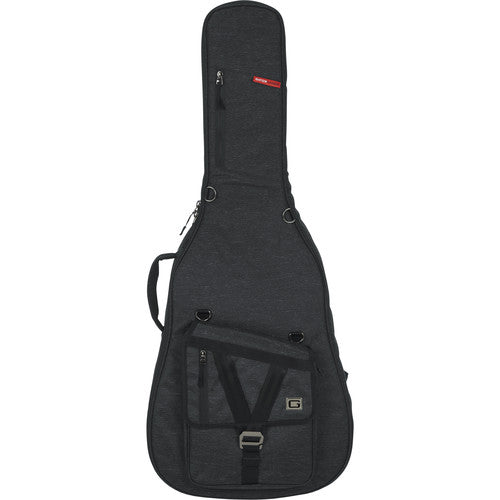 Gator Cases Transit Series Gig Bag for Jumbo Acoustic Guitar (Charcoal)