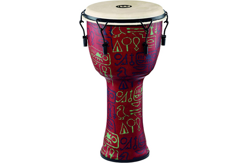 Meinl Mechanically Tuned Djembe with Synthetic Shell and Goat Skin Head 12 in. Pharaoh's Script
