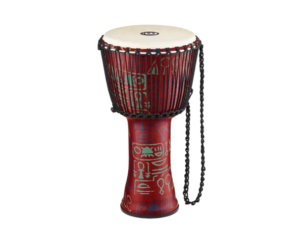 Meinl Rope Tuned Djembe with Synthetic Shell and Goat Skin Head 12 in. Pharaoh's Script
